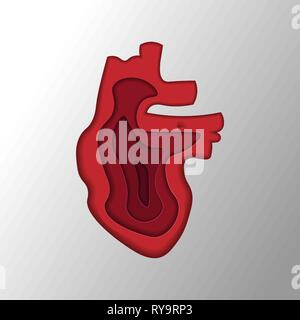 seamless pattern of multi-colored hearts on a background of uneven colored stripes. Stylized hand drawing - Stock Photo