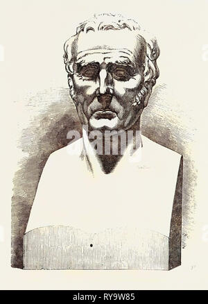 Colossal Bust of His Grace the Duke of Wellington - Stock Photo