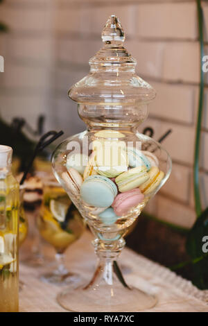 Astonishing Colorful Macarons Stand In Round Transparent Weight As Part Complete Home Design Collection Epsylindsey Bellcom