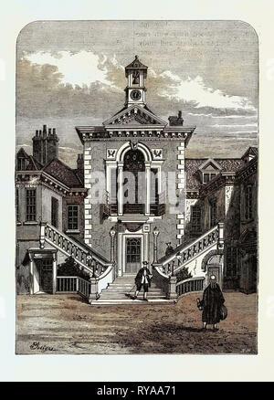 Old Serjeants' Inn 1878 London - Stock Photo