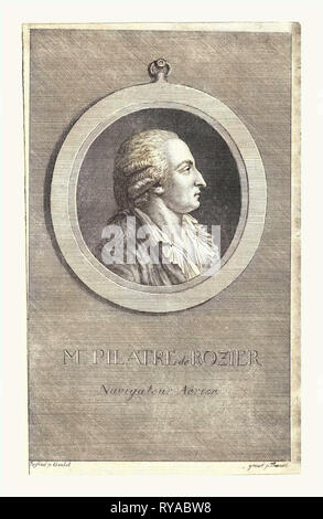 M. Pilatre De Rozier, Aeronaut by P. Goulet - Stock Photo