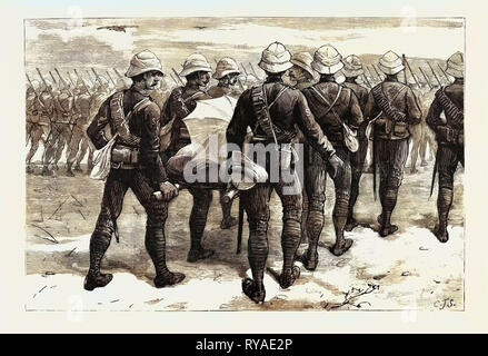 The War in the Soudan (Sudan): The Late Sir Herbert Stewart Wounded, Carrying the General to the Nile the Day after the Battle of Gubat, January 20 - Stock Photo
