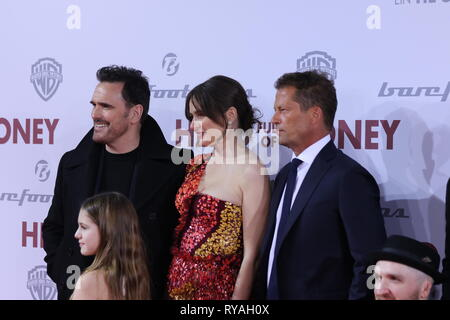 Berlin, Germany, March 12th, 2019, Matt Dillon, Emily Mortimer, Til Schweiger and May Rose Nivola  attends the European premiere 'Head Full of Honey'  at at the Zoo Palast on March 12th, 2019 in Berlin, Germany. A Til Schweiger movie 'Head Full of Honey ' is a dramatic comedy that deals with dementia and Alzheimer's . Credit: SAO Struck/Alamy Live News - Stock Photo