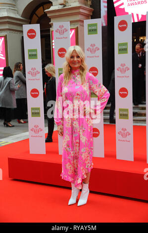 London, UK. 13th Mar, 2019. Gaby Roslin seen arriving on the red carpet during the The Prince's Trust and TKMaxx & Homesense Awards at The Palladium, Argyll Street in London. Credit: Terry Scott/SOPA Images/ZUMA Wire/Alamy Live News - Stock Photo