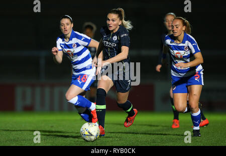 High Wycombe, Bucks, UK. 13th Mar, 2019. Melissa Lawley of Manchester City in action during the Women's Super League match between Reading FC Women and Manchester City Women at Adams Park, High Wycombe, England on 13th March 2019. Editorial Use Only Credit: Paul Terry Photo/Alamy Live News - Stock Photo