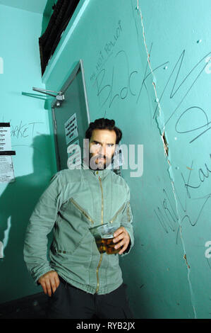 Adam Buxton of comedy duo Adam and Joe.  'The Adam and Joe Show' was a  British television comedy show, written and presented by Adam Buxton and Joe Cornish, which ran for four series on Channel 4 between 1996 and 2001. Pictured backstage at Bookslam event at 93 Feet East Bookslam event 08 July 2008 - Stock Photo