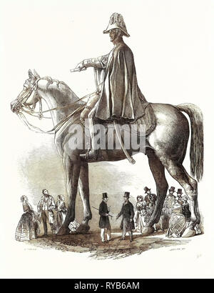 Colossal Statue of the Duke of Wellington, 1846 - Stock Photo