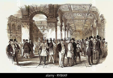 The Merchants' Walk (South West Angle), Royal Exchange. UK, 1847 - Stock Photo