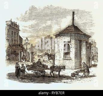 Turnpike Gates in and Near London Just Demolished: Islington Gate, UK, 1864 - Stock Photo