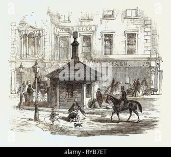 Turnpike Gates in and Near London Just Demolished: Notting Hill Gate, UK, 1864 - Stock Photo