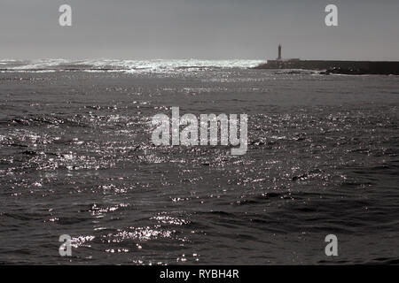 Sun reflexes on the sea - Stock Photo