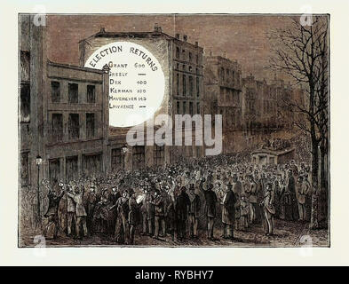 Sketches in New York During the Presidential Election: The Electoral Magic Lantern - Stock Photo