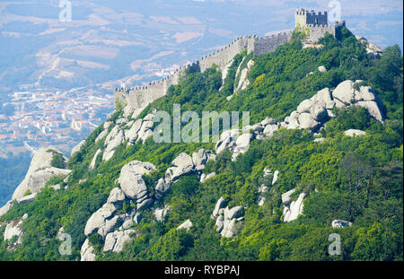 Moorish Castle, Sintra, Portugal, Europe - Stock Photo