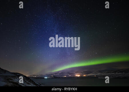 Aurora and Milky Way - Stock Photo