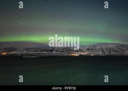 Aurora Borealis Iceland - Stock Photo
