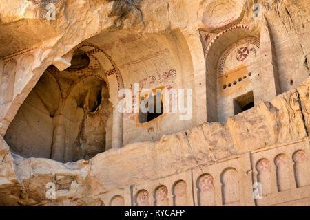 Karanlik Kilise (the dark church) in the Goreme Open Air Museum, Goreme, Cappadocia, Turkey - Stock Photo