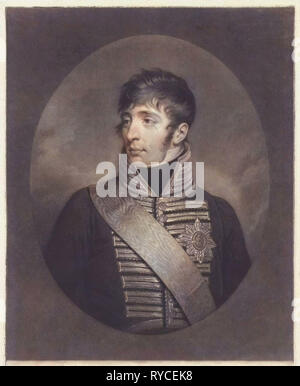 Portrait of Louis Napoleon Bonaparte (known as Lodewijk Napoleon), King of Holland, Charles Howard Hodges, 1806 - 1810 - Stock Photo