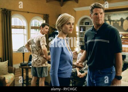 LEE EVANS, CAMERON DIAZ, BRETT FAVRE, THERE'S SOMETHING ABOUT MARY, 1998 - Stock Photo