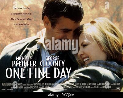 GEORGE CLOONEY, MICHELLE PFEIFFER, ONE FINE DAY, 1996 - Stock Photo