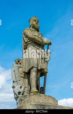 Statue of Robert the Bruce at Stirling Castle, Stirlingshire, Scotland, UK