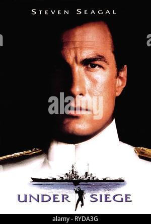 STEVEN SEAGAL POSTER, UNDER SIEGE, 1992 - Stock Photo