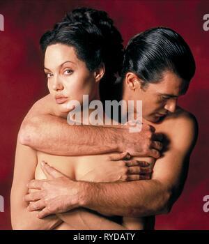 ANGELINA JOLIE, ANTONIO BANDERAS, ORIGINAL SIN, 2001 - Stock Photo