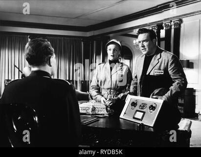 MICHAEL REDGRAVE, JAN STERLING, EDMOND O'BRIEN, 1984, 1956 - Stock Photo