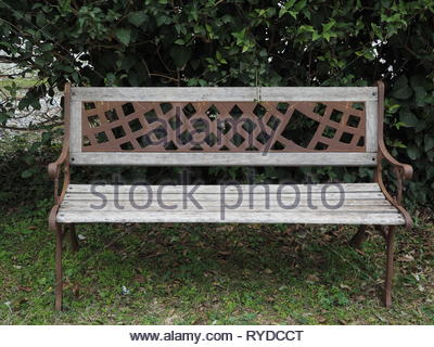 Fabulous Outdoors Bench In A Garden Build With Iron And Wood Right Forskolin Free Trial Chair Design Images Forskolin Free Trialorg