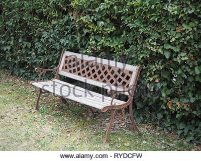 Strange Outdoors Bench In A Garden Build With Iron And Wood Front Forskolin Free Trial Chair Design Images Forskolin Free Trialorg