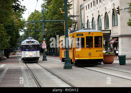 trolly car Memphis Tennessee - Stock Photo