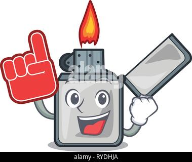 Foam finger cigarette lighters are placed cartoon bags - Stock Photo