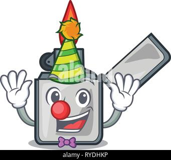 Clown cigarette lighters are placed cartoon bags - Stock Photo