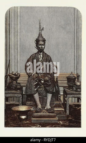 The Supreme King of Siam in His State Robes - Stock Photo