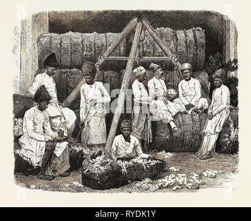 Parsee Cotton Merchants of Bombay, India - Stock Photo