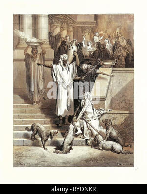 Lazarus at the Rich Man's Gate - Stock Photo