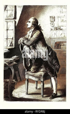 Goethe at Home. Johann Wolfgang Von Goethe 28 August 1749 – 22 March 1832) Was a German Writer, Artist, and Politician - Stock Photo