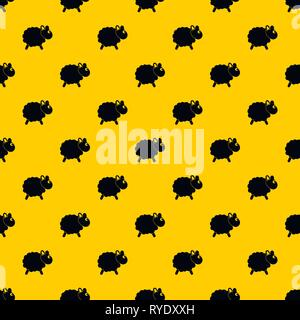 Sheep pattern vector - Stock Photo