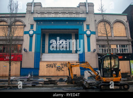 GLASGOW, SCOTLAND - 11th MARCH 2019: The O2 ABC music venue closed due to the Glasgow Art school fire. Locals want the ABC to open its doors. - Stock Photo