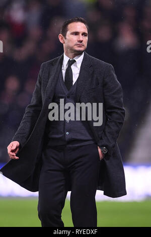 5th March 2019, Pride Park, Derby, England; Sky Bet Championship, Derby County vs Wigan Athletic ; Derby County Manager Frank Lampard   Credit: Jon Hobley/News Images   English Football League images are subject to DataCo Licence - Stock Photo