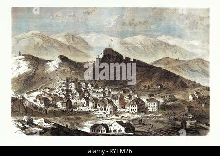 Franco-Prussian War: The City and the Fortress of Belfort, February 18 - Stock Photo
