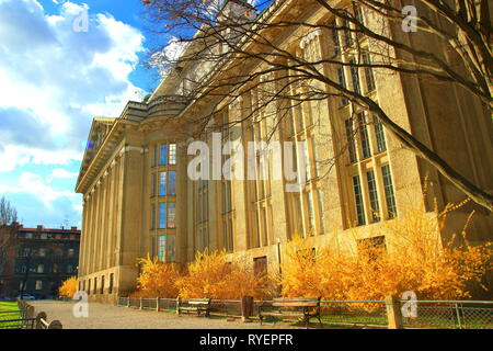Old National and University Library in Zagreb, Croatia - Stock Photo