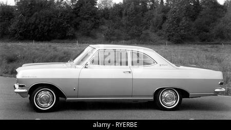 transport / transportation, cars, vehicle variants, Opel Rekord A coupe, side view, Germany, 1963, Additional-Rights-Clearance-Info-Not-Available - Stock Photo
