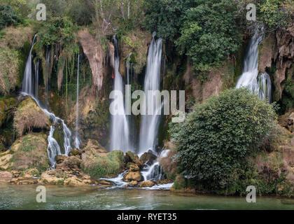 Kravice falls on the Trebizat River in Herzegovina, Bosnia and Herzegovina - Stock Photo