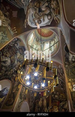 Veliko Tarnovo, Bulgaria - Inside Interior view of Patriarch Eastern Orthodox Church inside Tsarevets fortress. Patriarchal Cathedral - Stock Photo