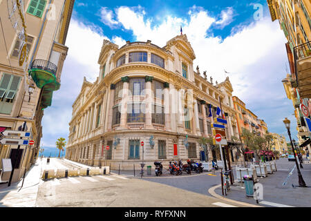 Opera house of Nice street view, Cote d Azur, France - Stock Photo