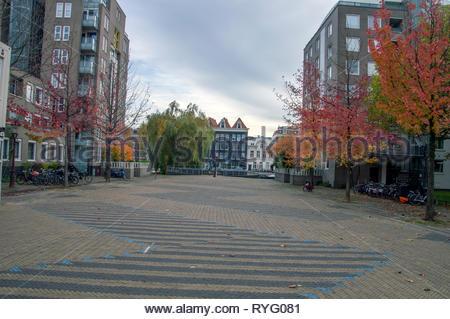 Wilhelmina Blombergplein Square At Amsterdam The Netherlands 2018 - Stock Photo