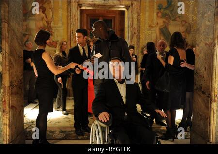 OMAR SY, FRANCOIS CLUZET, INTOUCHABLES, 2011 - Stock Photo