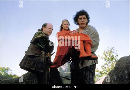 WALLACE SHAWN, ROBIN WRIGHT PENN, ANDRE THE GIANT, THE PRINCESS BRIDE, 1987