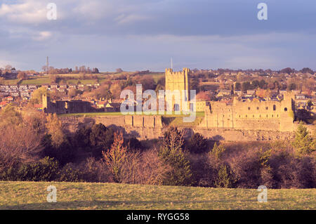 Richmond Castle, North Yorkshire, England, UK - Stock Photo