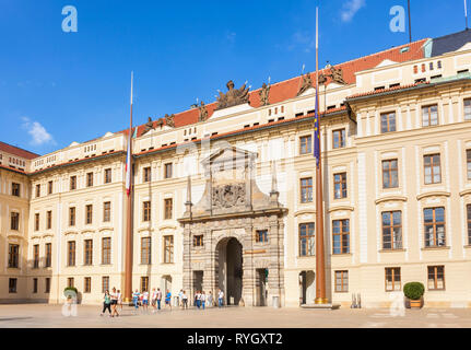 PRAGUE CASTLE PRAGUE Pražský hrad  CZECH REPLUBLIC EU EUROPE - Stock Photo